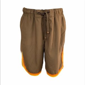 Old Navy Brown Mesh Lined Board Shorts